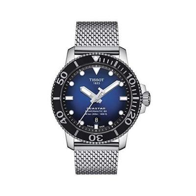 Tissot mens Seastar Stainless Steel Casual Watch Grey T1204071104102
