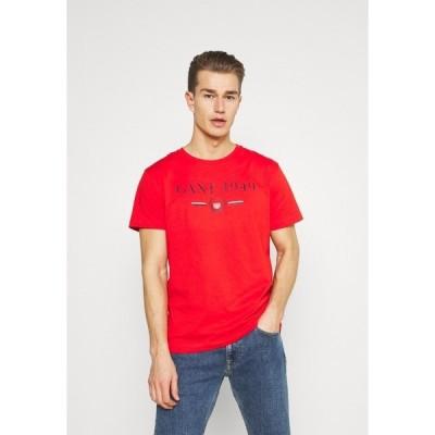 ガント Tシャツ メンズ トップス 1949 CREST  - Print T-shirt - lava red