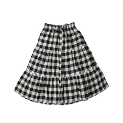【子供服ビー】 ティアードスカート キッズ ブラック 130cm 子供服Bee