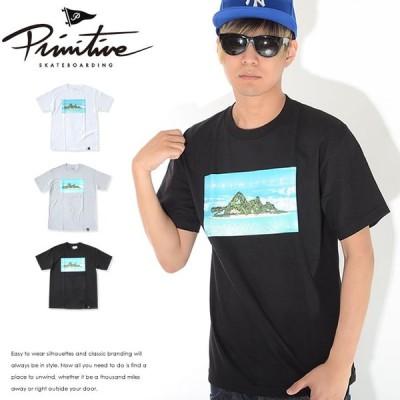アウトレット PRIMITIVE プリミティブ Tシャツ 半袖 ボックスイラスト 南国離島 ツリーレディ * セール