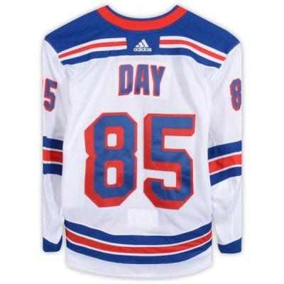 ユニセックス スポーツリーグ ホッケー Sean Day New York Rangers Game-Used #85 White Jersey from the 2018-19 NHL Preseason - Size 58 -