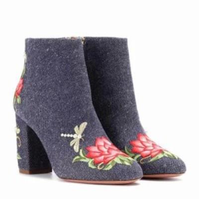 アクアズーラ ブーツ Lotus 85 denim ankle boots Jeans Blue