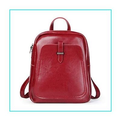 Ybriefbag Women Backpack Women's Leather Handbag Retro Style Leather Shoulder Bag Backpack Simple Atmosphere (Color : Red)【並行輸入品】