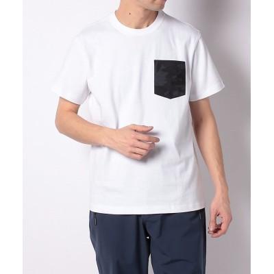 (TARAS BOULBA/タラスブルバ)タラスブルバ/メンズ/カモフラ胸ポケットTシャツ/メンズ ホワイト