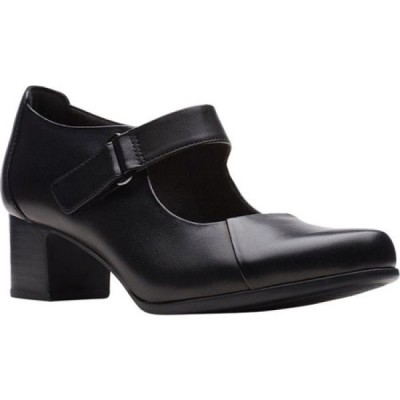 クラークス Clarks レディース シューズ・靴 Un Damson Vibe Mary Jane Black Leather