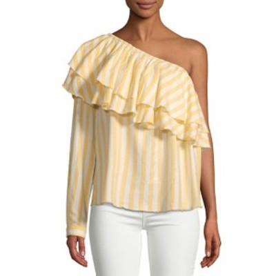 サックスフィフスアベニュー レディース トップス シャツ Richelle One-Shoulder Cotton Top