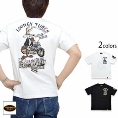 vanson×LOONEY TUNESコラボ 天竺半袖Tシャツ vanson LTV-2007 バンソン ヴァンソン コヨーテ 刺繍