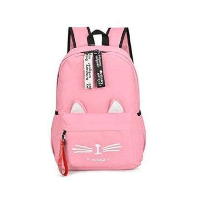 ブルーリフレイン リュック 猫 リュックサック かわいい ねこ耳 バッグ キャンバス 軽量 学生 通学 レディース デイバッグ かたかけ バ