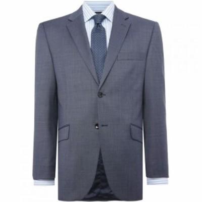 ハウィック Howick Tailored メンズ スーツ・ジャケット アウター Brerard Slim Fit SB2 Notch Lapel Suit Jacket Blue