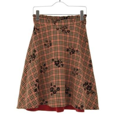 PROPORTION BODY DRESSING / プロポーション ボディドレッシング 千鳥×花柄 フラワーオンチェックフレアー スカート
