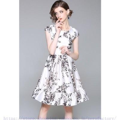 贅沢絹素材シルクワンピースシルクドレスオフショルワンピース花柄刺繍ワンピースひざ下丈パーティードレス