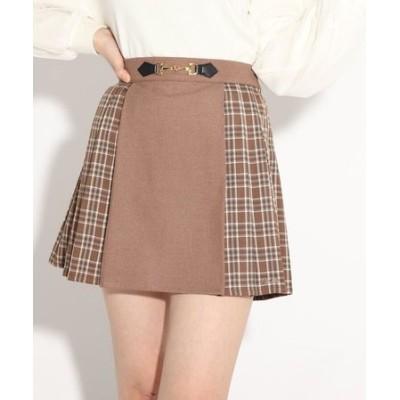 ビットパーツプリーツスカート