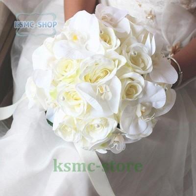 ウエディングブーケ 安い 結婚式 ブーケ 花嫁 アレンジメント 披露宴 ウェディング用 造花 ブライダルブーケ パーティー 前撮り 花束