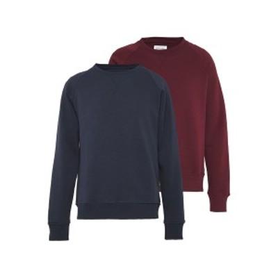 ピアワン メンズ パーカー・スウェットシャツ アウター 2 PACK - Sweatshirt - dark blue/bordeaux dark blue/bordeaux