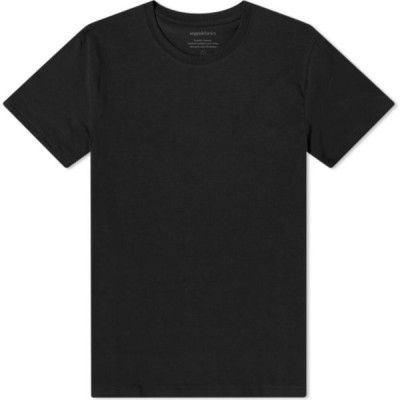 オーガニック ベーシックス Organic Basics メンズ Tシャツ トップス Organic Cotton Tee Black