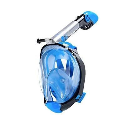 CHICHIC Full Face Snorkel Mask Snorkel Set Scuba Mask 180 Degree Panoramic