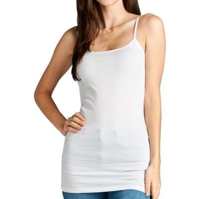 レディース 衣類 トップス Women's Adjustable Saghetti Strap Fitted Stretchy Long Tank Top Cami-Plus Size Available (FAST & FREE SHIPPING)