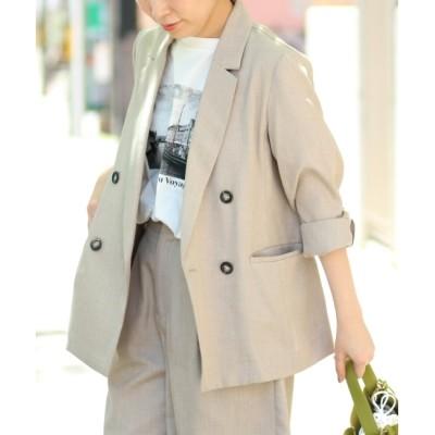 【ルクールブラン/le.coeur blanc】 ミックスブッチャーテーラードジャケット