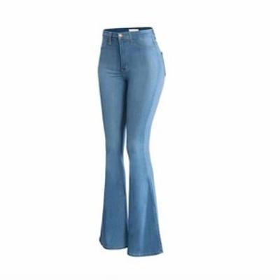 二枚送料無料/デニムパンツ ワイドパンツ ジーパン ジーンズ ハイウエスト ラッパパンツ クラシック レディース ボトムス ズボン パンツ
