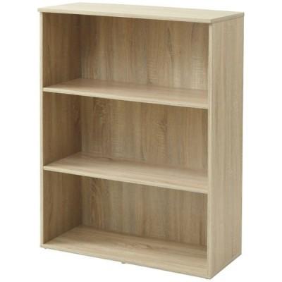 YAMAZEN(山善) 木製シェルフ(本棚 書棚) 3段 オープン オーク 幅800×奥行360×高さ1100mm 1台(直送品)