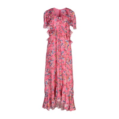 ドンダップ DONDUP ロングワンピース&ドレス フューシャ 40 シルク 100% ロングワンピース&ドレス
