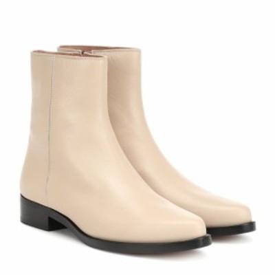 レグレス Legres レディース ブーツ ショートブーツ シューズ・靴 Leather ankle boots Dirty Nude