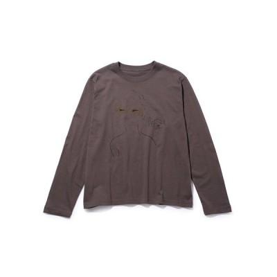 tシャツ Tシャツ 【designe par Emily Marant】プリントロングスリーブTシャツ