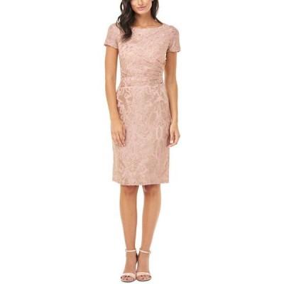 ジェイエスコレクションズ レディース ワンピース トップス Metallic Jacquard Side-Ruched Dress