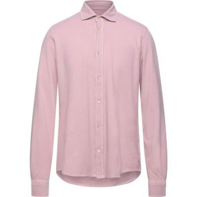 チルコロ1901 CIRCOLO 1901 メンズ シャツ トップス solid color shirt Pink
