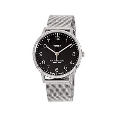 Timex The Waterbury クラシッククォーツムーブメント ブラックダイヤル メンズ腕時計 TW2R71500