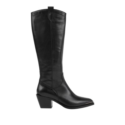 LAURA BELLARIVA ブーツ ブラック 40 牛革(カーフ) ブーツ