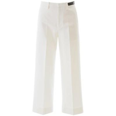MONCLER/モンクレール White Moncler basic logo pants レディース 春夏2020 2A702 00 V0064 ik