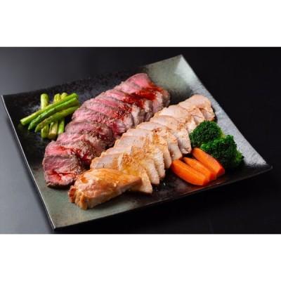 兵庫 「神戸ハング」ローストビーフ&焼豚セット 送料込み