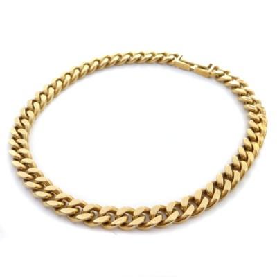 ノーブランド 喜平 2面 シングル 全長約 18cm 約 18.7g ブレスレット メンズ K18ゴールド ジュエリー イエローゴールド 中古 送料無料