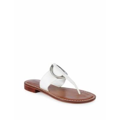 ベルナルド レディース シューズ サンダル Metal Circle Leather Sandals