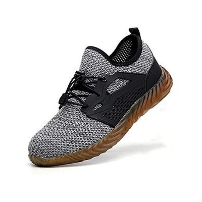 KINOW メンズ スチールトウ 安全作業靴 滑り止め 軽量 アウトドア アスレチック 工業 建設 スニーカー 女性用 US サイズ: 12.5 Woインポート 送料無料