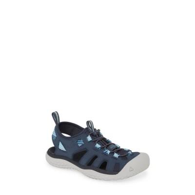 キーン サンダル シューズ レディース Solar Sandal Navy/ Blue Mist Fabric