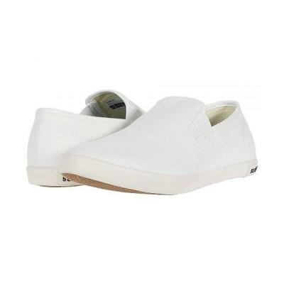 SeaVees シービーズ レディース 女性用 シューズ 靴 スニーカー 運動靴 Baja Slip On Classic - White