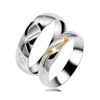Uloveido チタンステンレススチール 結婚婚約指輪 レディース Y552