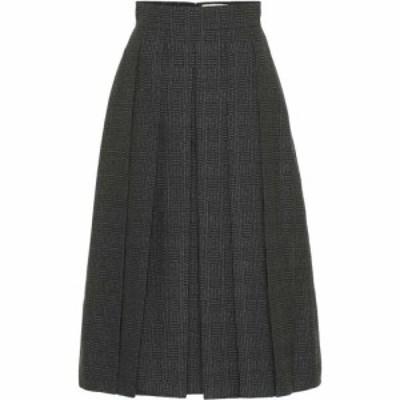 フェンディ Fendi レディース ひざ丈スカート スカート Pleated Wool Midi Skirt Grey