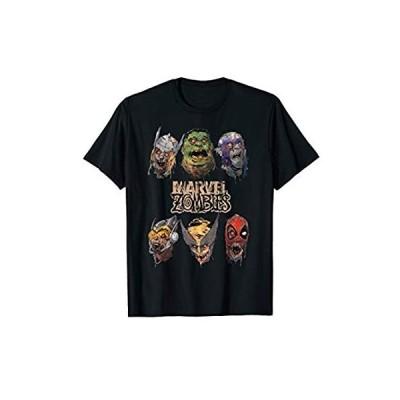 並行輸入品Marvel Zombies Group Shot Zombie Heads T-Shirt【お取り寄せ】