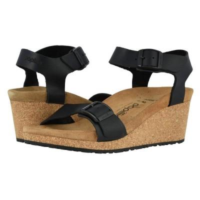 ビルケンシュトック Birkenstock レディース サンダル・ミュール シューズ・靴 Soley by Papillio Black Leather