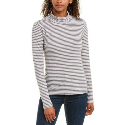 グレイステート シャツ トップス レディース Grey State Claude Turtleneck T-Shirt storm grey and classic grey stripe