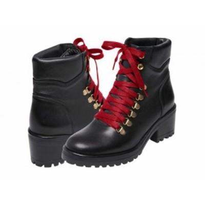 Steve Madden スティーブマデン レディース 女性用 シューズ 靴 ブーツ レースアップ 編み上げ Galway Boot Black Leather【送料無料】