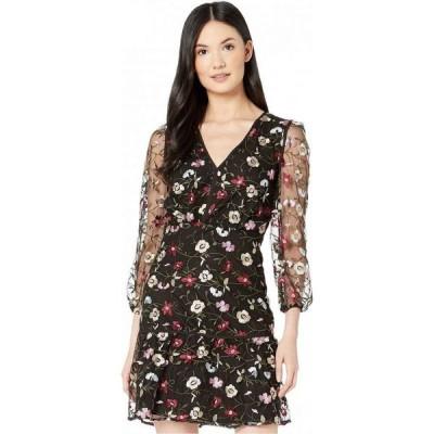 サム エデルマン Sam Edelman レディース ワンピース ワンピース・ドレス Embroidered Mesh Blouson Dress Black Multi