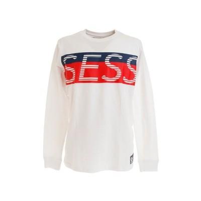 セッションズ(SESSIONS) Tシャツ メンズ 長袖 BIG ロゴ 207087 WT/RD オンライン価格 (メンズ)