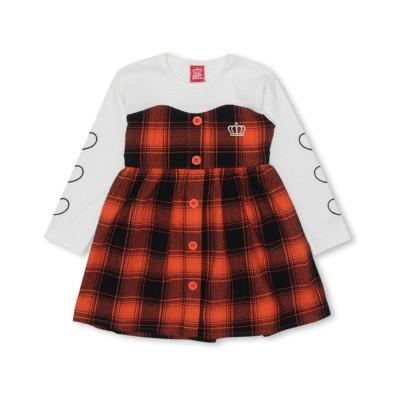 【BABYDOLL】チェック柄ドッキングワンピース 4470K ワンピース, Kids' Dress