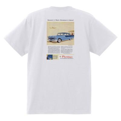 アドバタイジング ポンティアック 476 白 Tシャツ 黒地へ変更可能 1955 ローレンシャン スターチーフ パスファンダー カタリナ ホットロッド