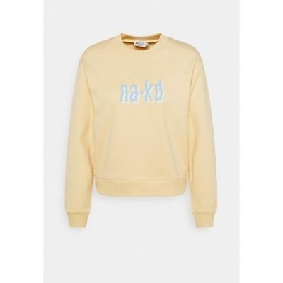 エヌ エー ケイ ディ パーカー・スウェットシャツ レディース アウター Sweatshirt - yellow