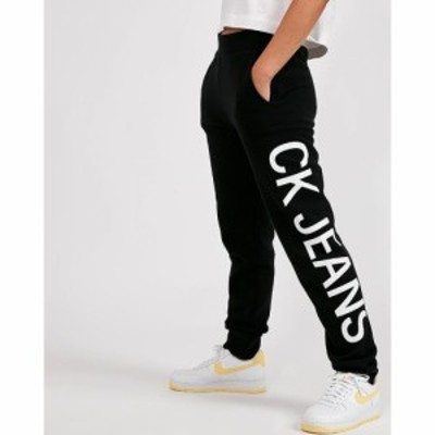 カルバンクライン Calvin Klein Jeans レディース ボトムス・パンツ Side Logo Cotton Jog Pant Black